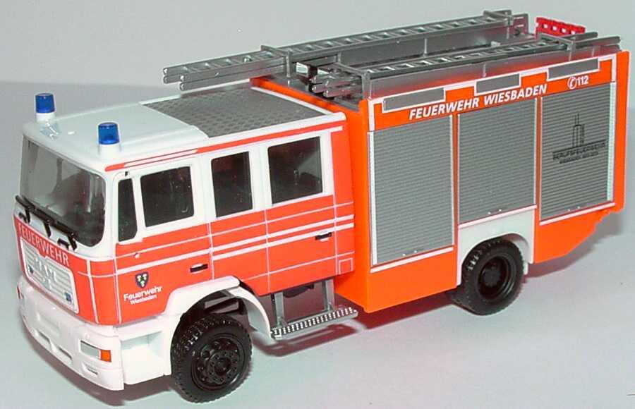 Herpa 046534 MAN M2000 EVO Feuerwehr Wiesbaden LF 20//16 NEU OVP 1//87