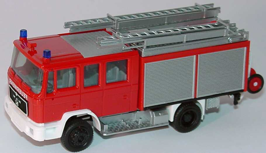 Foto 1:87 MAN M90 LF 16 Feuerwehr rot herpa 041447