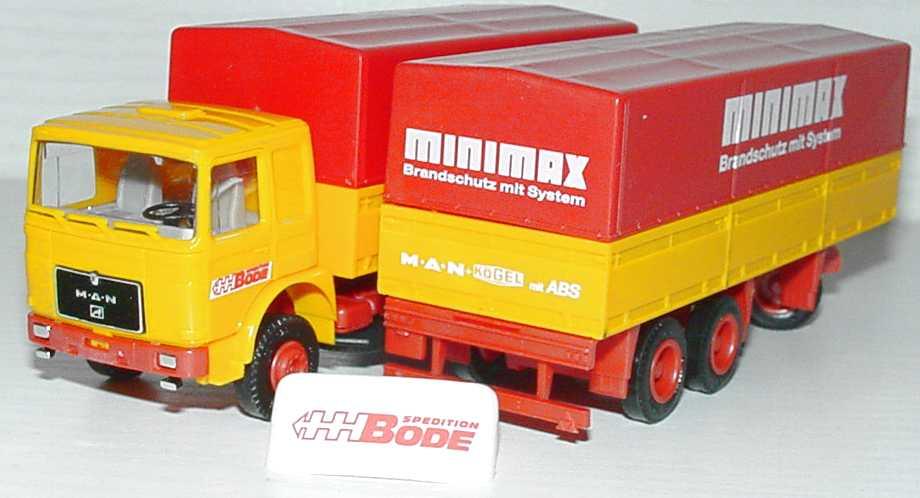 Foto 1:87 MAN PPHgz 2/3 Spedition Bode, Minimax - Brandschutz mit System Albedo