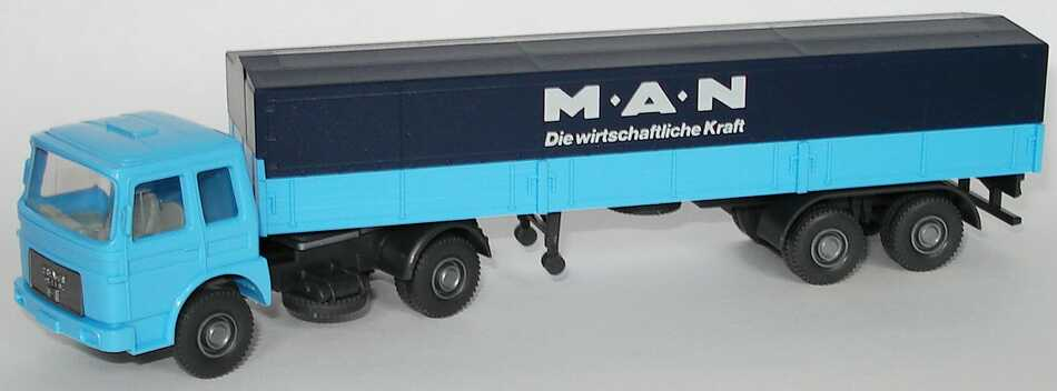 Foto 1:87 MAN PPSzg 2/2 MAN - Die wirtschaftliche Kraft hellblau/dunkelblau Wiking 535