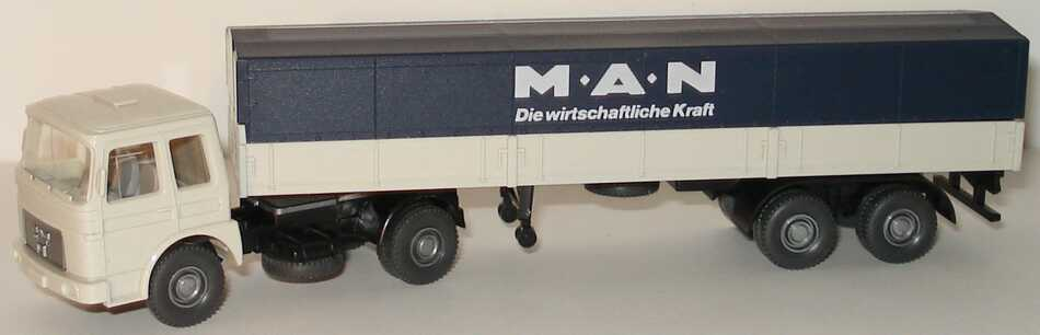 Foto 1:87 MAN PPSzg 2/2 MAN - Die wirtschaftliche Kraft hellgrau/dunkelblau Wiking 535