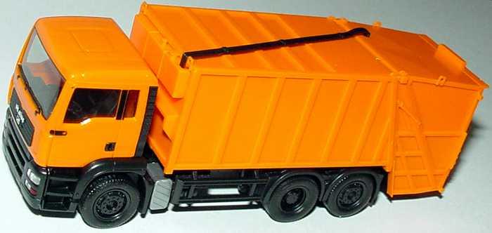 Foto 1:87 MAN TG-A M 3a Pressmüllwagen orange herpa 147620