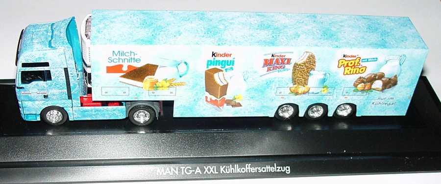 Foto 1:87 MAN TG-A XXL Fv Cv DoppelstockKükoSzg 2/3 Ferrero, Kinder herpa 120296