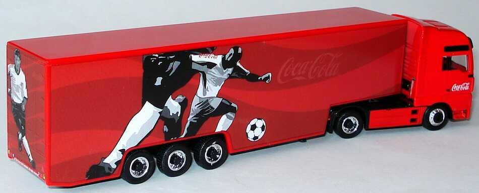 Foto 1:87 MAN TG-A XXL Fv Cv KoSzg Cv 2/3 Coca-Cola (Design Fußballspieler) Magic LC26002