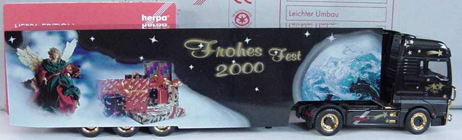 Foto 1:87 MAN TG-A XXL Fv Cv KoSzg Cv 2/3 Frohes Fest 2000 herpa 146548