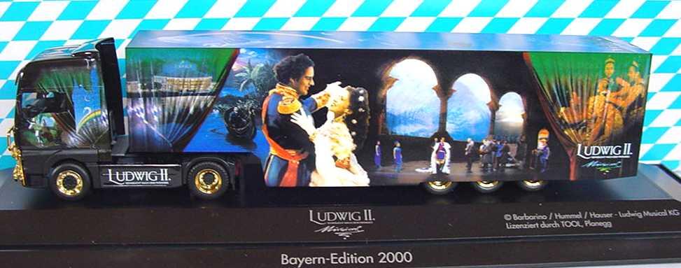 Foto 1:87 MAN TG-A XXL Fv Cv KoSzg Cv 2/3 Ludwig II - Sehnsucht nach dem Paradies Bayern-Edition 2000 herpa