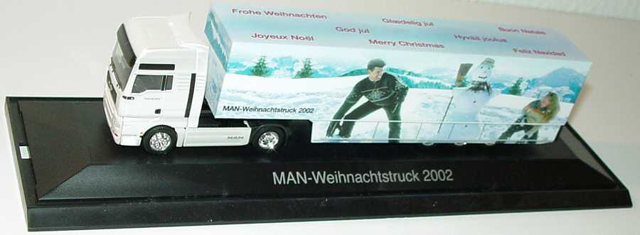 Foto 1:87 MAN TG-A XXL Fv Cv KoSzg Cv 2/3 MAN-Weihnachtstruck 2002 Werbemodell herpa