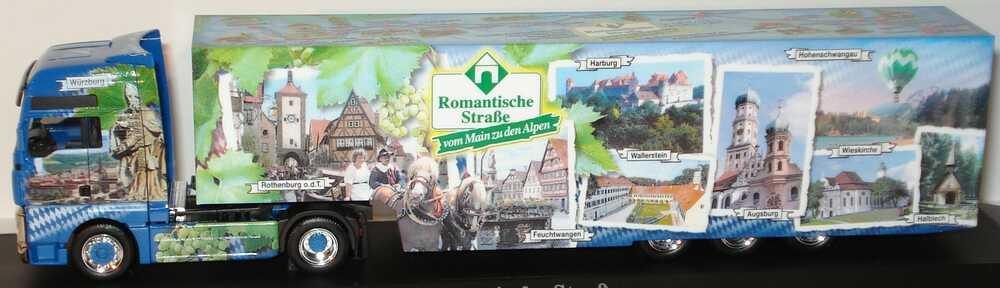 Foto 1:87 MAN TG-A XXL Fv Cv KoSzg Cv 2/3 Romantische Straße - vom Main zu den Alpen Bayern-Edition 2004 herpa 273138