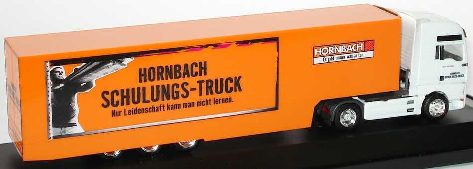 Foto 1:87 MAN TG-A XXL Fv Cv KükoSzg Cv 2/3 Hornbach Schulungs-Truck herpa 275033