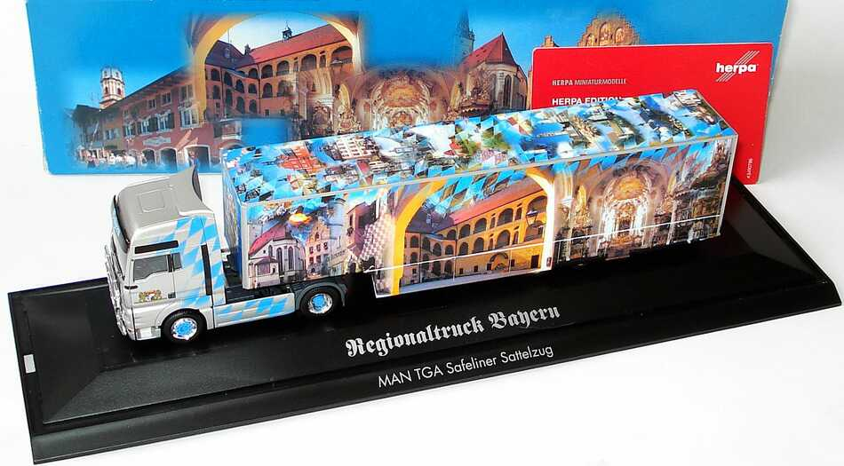 Foto 1:87 MAN TG-A XXL Fv Cv Safeliner-KoSzg Cv 2/3 Regionaltruck Bayern herpa 120623