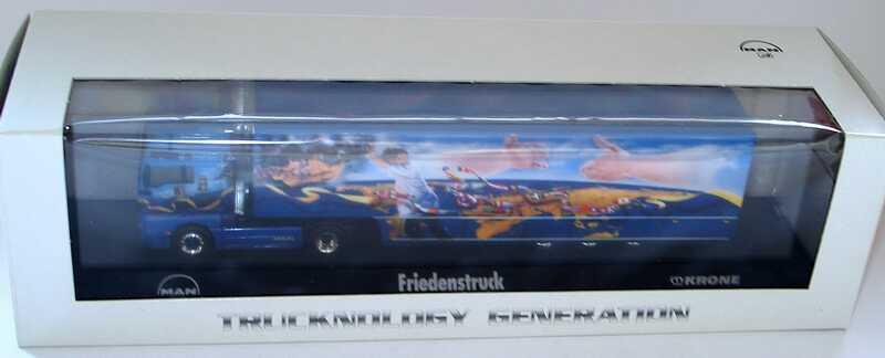 Foto 1:87 MAN TG-A XXL Fv Cv Safeliner KoSzg2/3 Friedenstruck Shakals Corner Werbemodell herpa 09.38069-0255