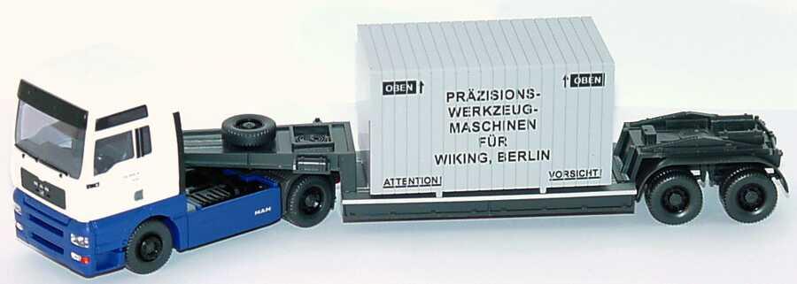 Foto 1:87 MAN TG-A XXL TiefladeSzg 2/2 Präzisions-Werkzeug-Maschinen für Wiking, Berlin Wiking 50302