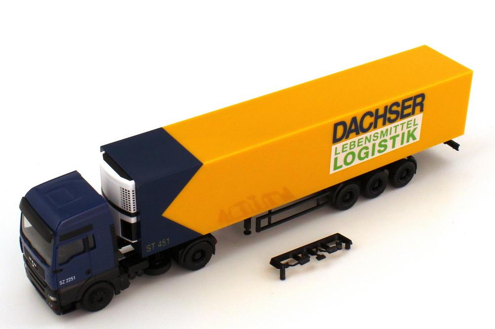 Foto 1:87 MAN TG-A XXL Küko-Szg 2/3 Dachser Lebensmittel Logistik herpa 147149