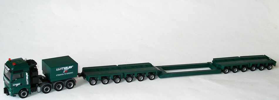 Foto 1:87 MAN TGX XXL Schwerlastzug Tieflader 4/6/6 W. Mayer Swertransporte, Zweibrücken herpa 155465