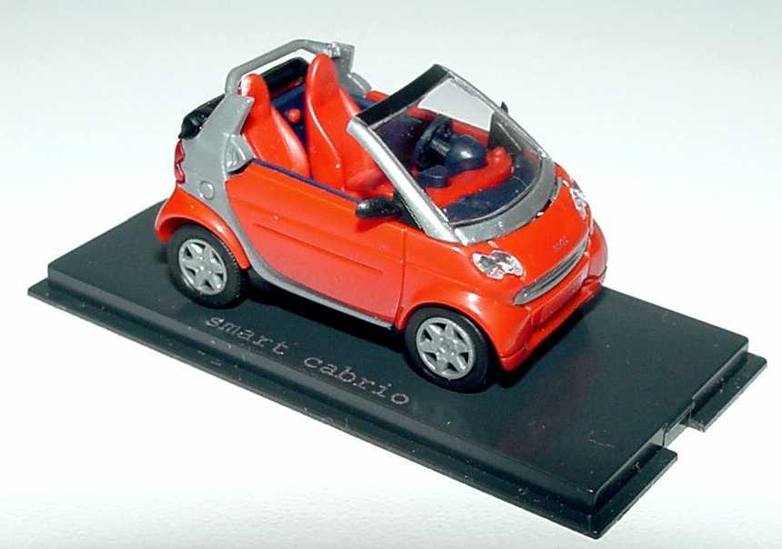 Foto 1:87 MCC Smart Cabrio dunkelorange/silber Werbemodell Busch 0013438V001C16Q00