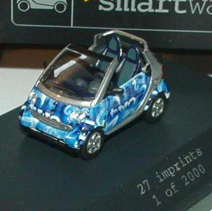 Foto 1:87 MCC Smart Cabrio numeric blue Werbemodell Busch 0013438V001C16Q00