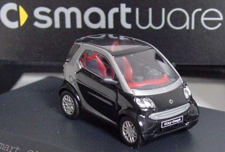 Foto 1:87 MCC Smart City-Coupé (2nd generation) jack-black/silber-met. Werbemodell Busch Q0012444V002C51Q00