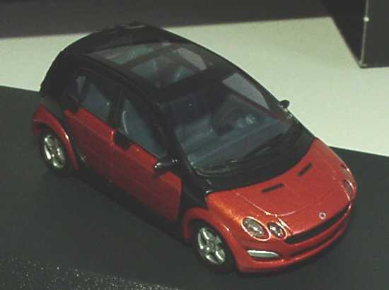 Foto 1:87 MCC Smart Forfour flame-red-met. Werbemodell Busch 0017727V001C36Q00