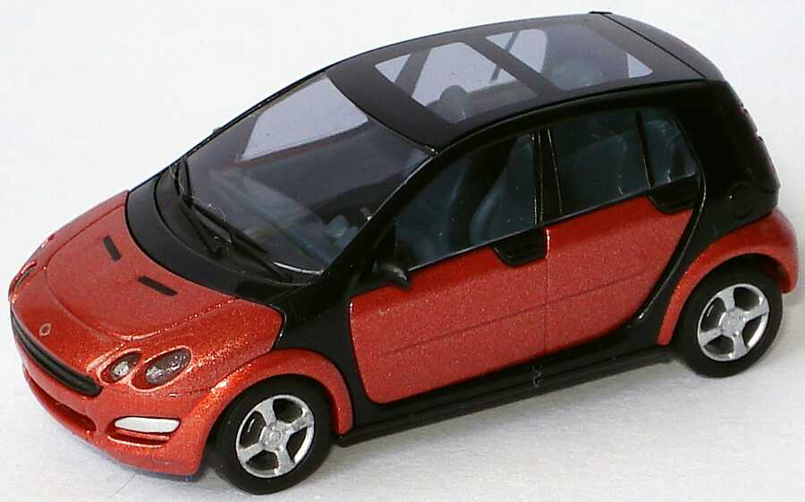 Foto 1:87 MCC Smart Forfour flame-red-met. (ohne PC-Box) Busch 0017727V001C36Q00
