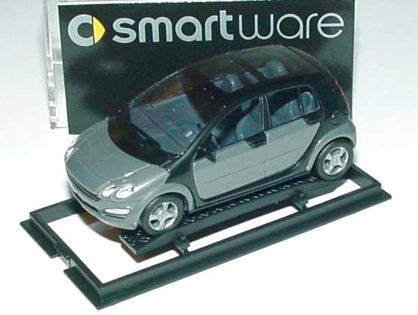 Foto 1:87 MCC Smart Forfour glance-grey-met. Werbemodell Busch 0013097V002000000