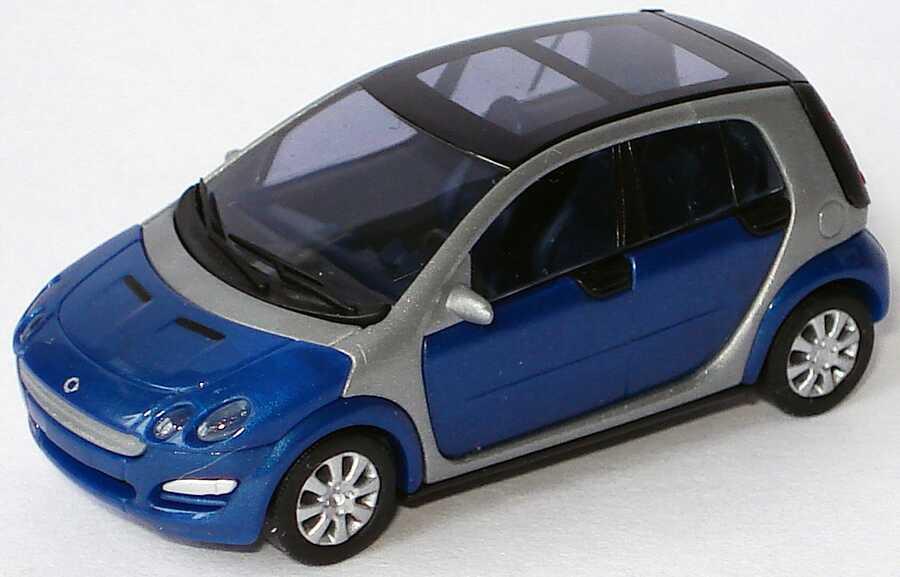 Foto 1:87 MCC Smart Forfour star-blue-met. (ohne PC-Box) Busch 0017725V001C06Q00