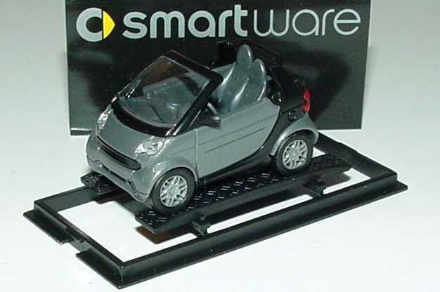 Foto 1:87 MCC Smart Fortwo Cabrio bay-grey-met. Werbemodell Busch 0013097V002000000