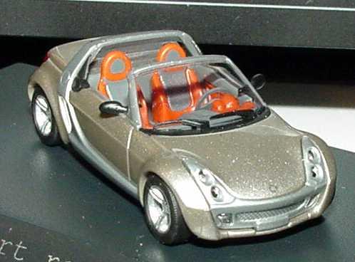 Foto 1:87 MCC Smart Roadster champagne-remix-met. Werbemodell Busch 0014182V001C62Q00