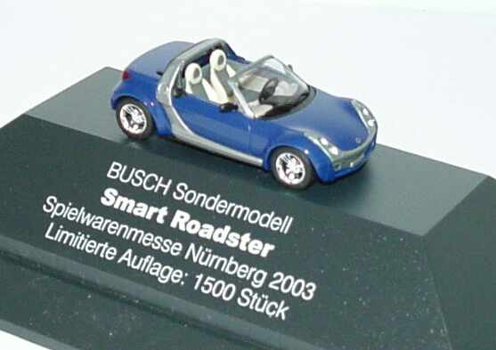 Foto 1:87 MCC Smart Roadster dunkelblau Spielwarenmesse Nürnberg 2003 Busch