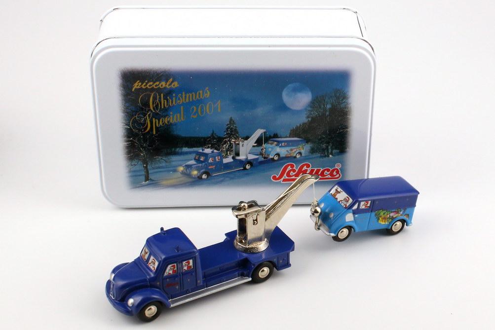 Foto 1:87 Magirus Deutz Abschleppwagen und DKW Schnellaster Christmas Special 2001 Weihnachts-Edition 2001 - Schuco Piccolo 05205