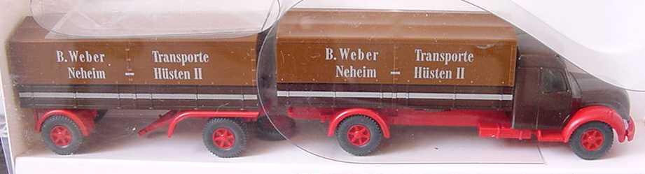 Foto 1:87 Magirus S7500 PPHgz 2/2 B. Weber Transporte Wiking 8550232