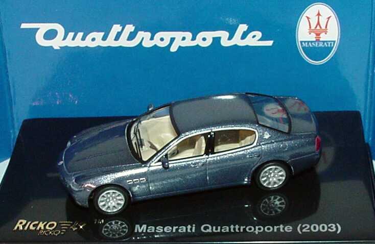 Foto 1:87 Maserati Quattroporte 2003 blaugrau-met. Ricko 38806