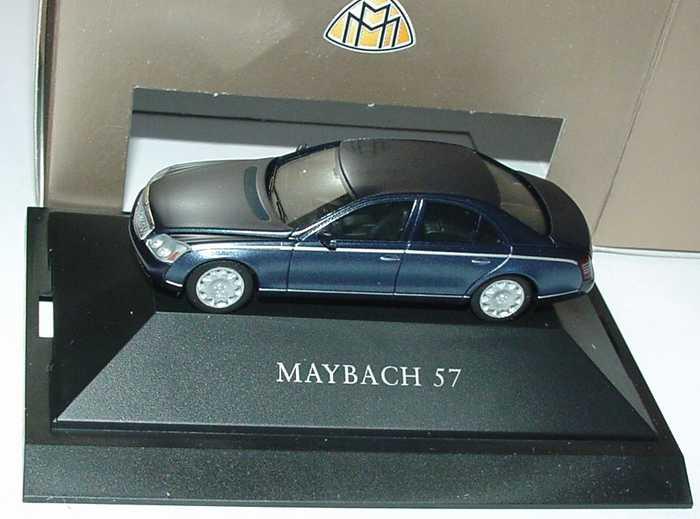 Foto 1:87 Maybach 57 cote-azure-bluedark/bluemiddle Werbemodell herpa B66961337