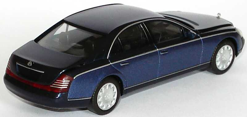 Foto 1:87 Maybach 57 cote-azure-bluedark/bluemiddle (ohne PC-Box) herpa B66961337