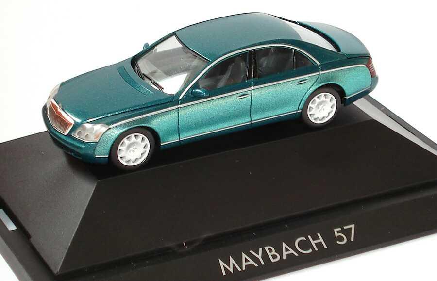 Foto 1:87 Maybach 57 dunkelgrünmet./grün-met. herpa 100455