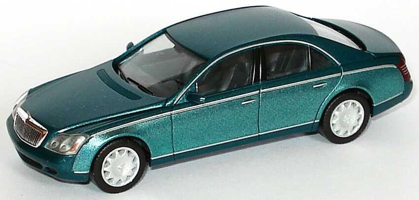 Foto 1:87 Maybach 57 dunkelgrünmet./grün-met. (ohne PC-Box) herpa 100455