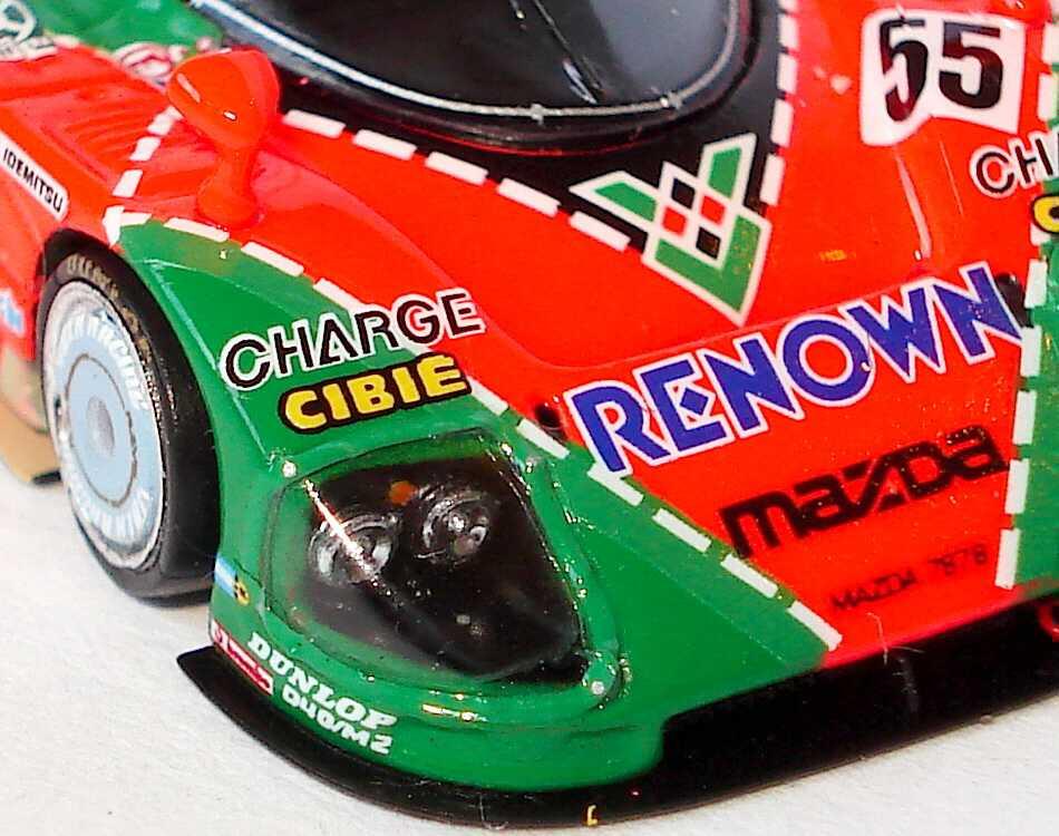 Foto 1:87 Mazda 787B 24h von LeMans 1991 Renown, Charge Nr.55, Weidler / Herbert / Gachot (Siegerfahrzeug) Spark 87LM91