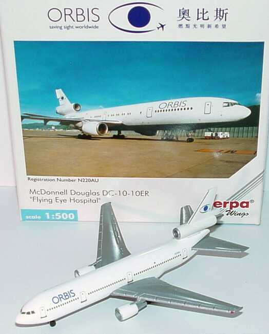 Foto McDonnell Douglas DC-10-10ER Orbis - Flying Eye Hospital, N220AU herpa Wings 500159