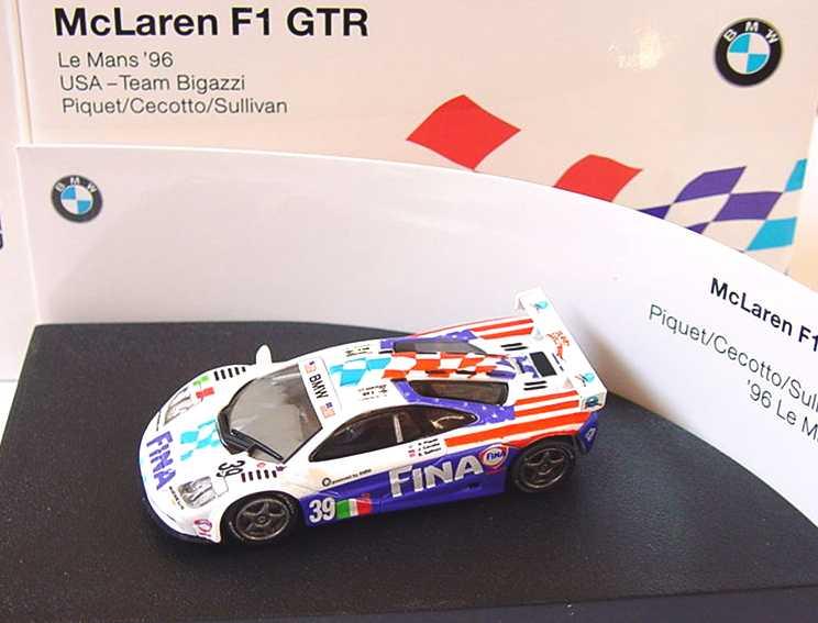 Foto 1:87 McLaren F1 GTR Le Mans ´96 USA Team Bigazzi, Fina Nr.39, Piquet/Cecotto/Sullivan Werbemodell Paul´s Model Art 80419421487