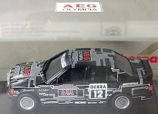 Foto 1:87 Mercedes-Benz 190E 2.3-16 DTM 1989 Snobeck, AEG Nr.12, Cudini (AEG Olympia) herpa