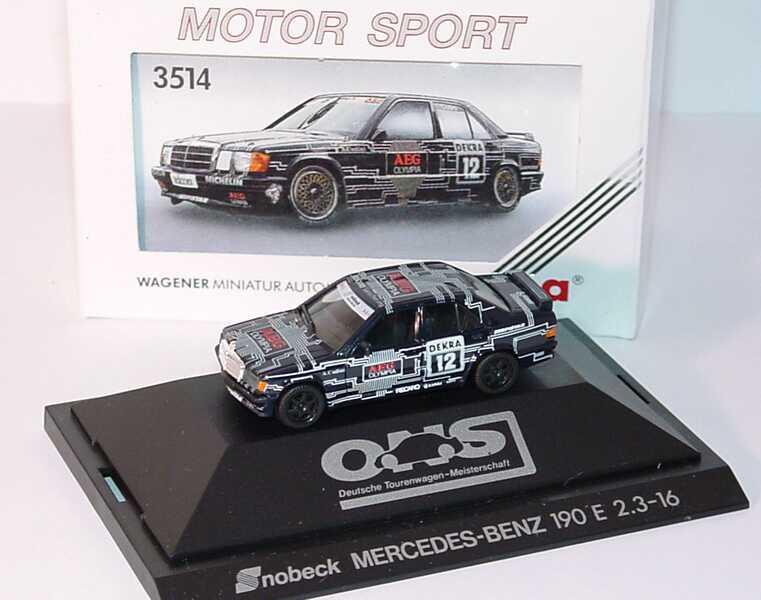 Foto 1:87 Mercedes-Benz 190E 2.3-16 DTM 1989 Snobeck, AEG Nr.12, Cudini herpa 3514