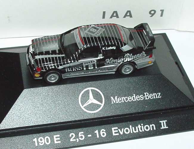 Foto 1:87 Mercedes-Benz 190E 2.5-16 Evolution II DTM 1991 AMG, König-Pilsener Nr.8, Ludwig IAA 91 Werbemodell herpa