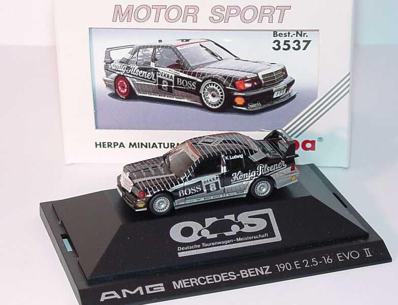 Foto 1:87 Mercedes-Benz 190E 2.5-16 Evolution II DTM 1991 AMG, König-Pilsener Nr.8, Ludwig herpa 3537