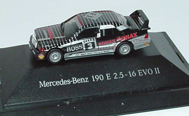 Foto 1:87 Mercedes-Benz 190E 2.5-16 Evolution II DTM 1992 AMG, Sonax Nr.3, Ludwig Werbemodell herpa B66005302