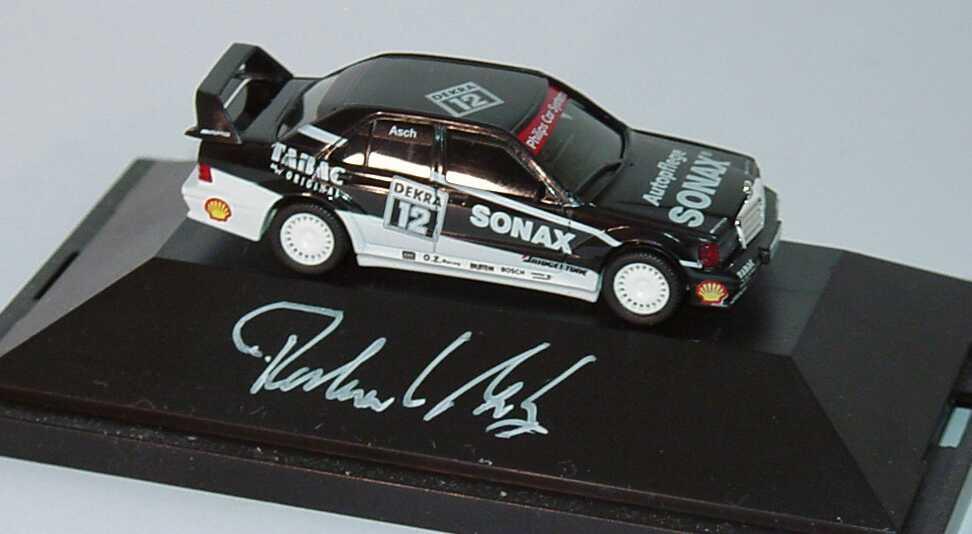 Foto 1:87 Mercedes-Benz 190E 2.5-16 Evolution II DTM 1993 AMG-Sonax Nr.12, Roland Asch Werbemodell mit Fahrerautogramm herpa B66005618