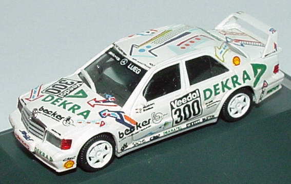 Foto 1:87 Mercedes-Benz 190E Evo II VLN 1993 Lueg Dekra Nr.300 Manthey Richter - handmade Decal-Modell - herpa