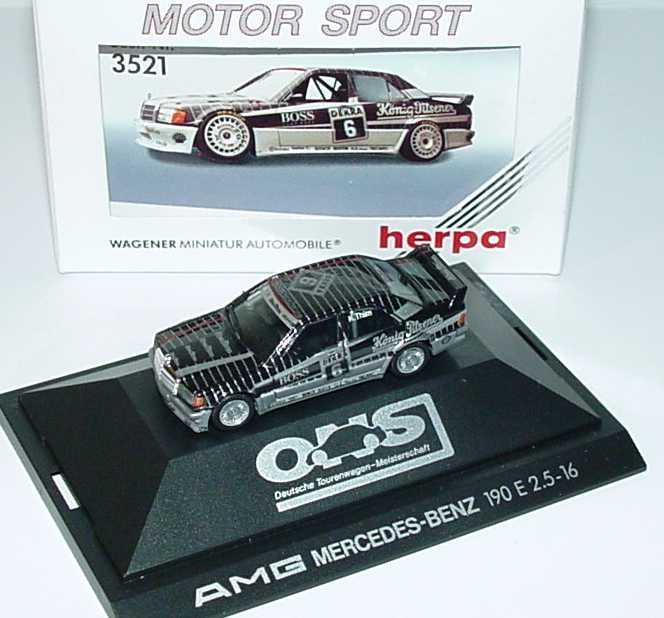 Foto 1:87 Mercedes-Benz 190E Evo I DTM 1990 AMG König-Pilsener Nr.6 Kurt Thiim - herpa 3521