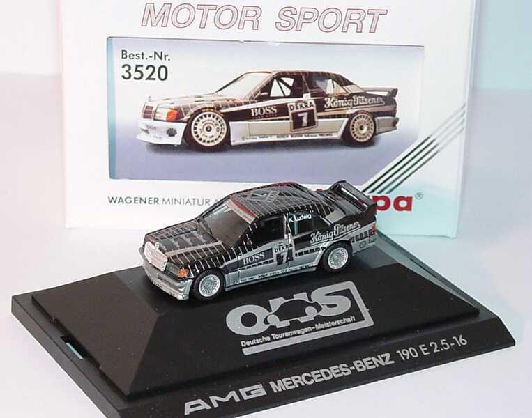 Foto 1:87 Mercedes-Benz 190E Evo I DTM 1990 AMG König-Pilsener Nr.7 Klaus Ludwig - herpa 3520