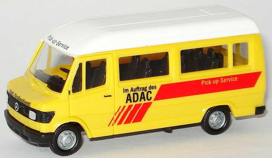 Foto 1:87 Mercedes-Benz 207D Bus Hochdach ADAC, Pick up Service herpa 043038