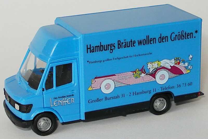 Foto 1:87 Mercedes-Benz 207D Kögelaufbau Lenffer - Hamburgs Bräute wollen den Größten herpa