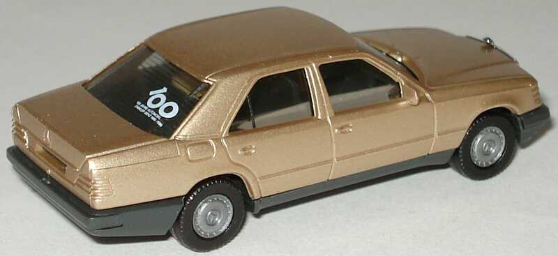 Foto 1:87 Mercedes-Benz 300E W124 gold-met. 100 Jahre Automobil - herpa 3049
